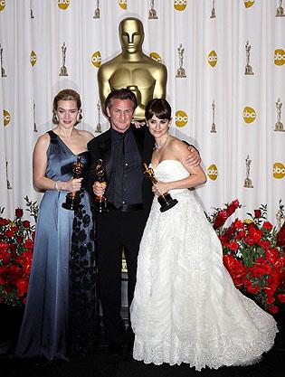 81st Annual Academy Awards_Kate Winslet_Sean Penn_PenelopeCruz