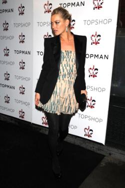 Top Shop Night 2 Dinner Arrivals_Kate Moss