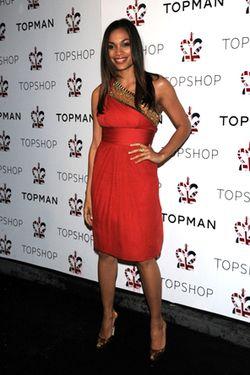 Top Shop Night 2 Dinner Arrivals_ Rosario Dawson