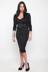 AHNY_Black Dress w Bow