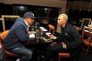 RUSSELL SIMMONS & CHRIS BROWN