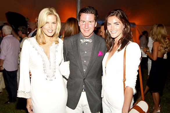 Co hosts mary alice stephenson peter davis and hilary rhoda at the
