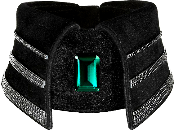 KARL LAGERFELD BLACK DIAMOND COLLAR
