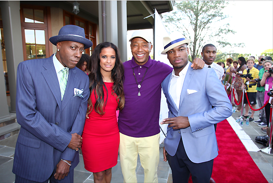 GEORGE LUCAS HONORED_ARSENIO HALL_ROCSI DIAZ_RUSSELL SIMMONS_NEYO