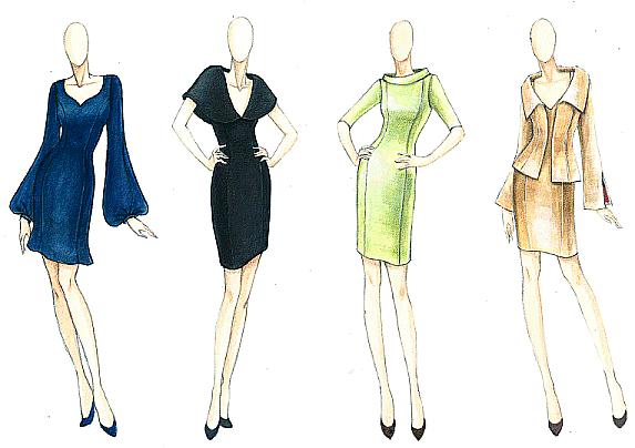 Fashion Design Sketches Background