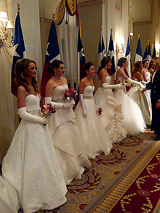 58th INTL DEBUTANTE BALL_DEBUTANTES IN RECEIVING LINE