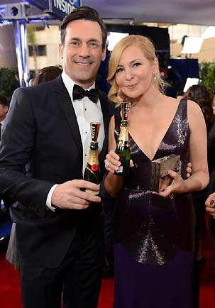 MOET Y CHANDON_ JON HAMM & WIFE