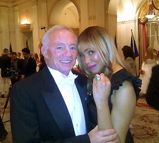 Jerry Jones & Tia Walker at the 58th International Debutante Ball