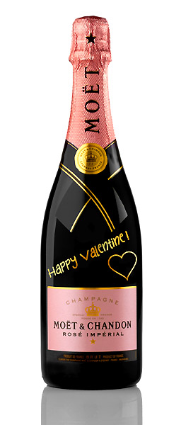 Valentine Moet Bottle