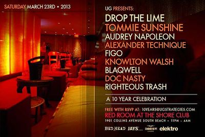 10 YEAR CELEBRATION RED ROOM AT THE SHORECLUB