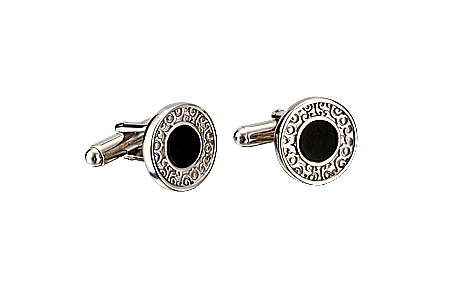 CARERRA Y CARERRA_Alegrías_cufflinks_in_silver_with_onyx copy