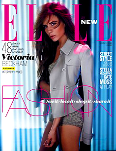 VICTORIA BECKHAM COVERS ELLE UK MARCH 2013