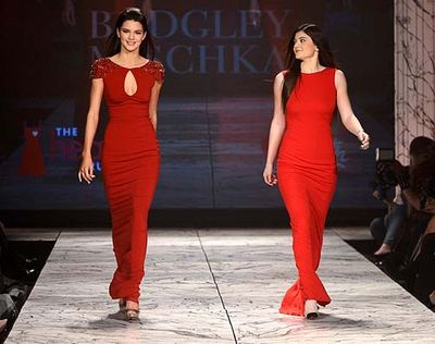 Heart Truth Red Dress kendall-kylie-jenner