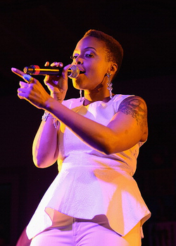 Chrisette Michelle(2) performs during the BET Music Matters Showcase at Brazos Hall on March 14, 2013 in Austin, Texas. (Photo by Daniel Boczarski-Getty Images for BET)