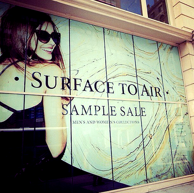 SAMPLE SALE SURFACE TO AIR