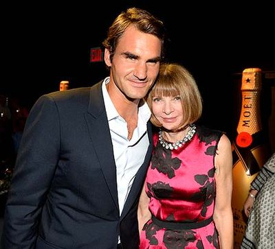 MOET 270 YEARS-ROGER FEDERER ANNA WINTOUR