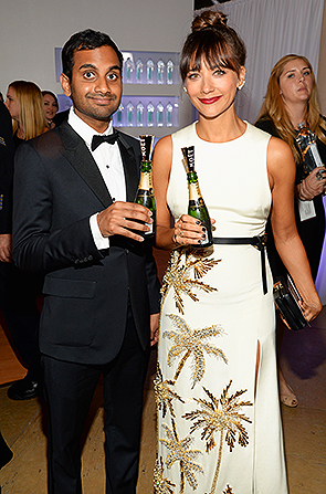 71ST GOLDEN GLOBES_AZIZ ANSARI & RASHIDA JONES