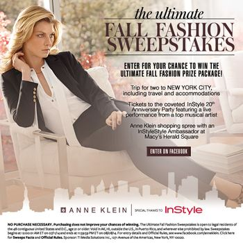 INSTYLE ANNE KLEIN FALL FASHION SWEEPSTAKES