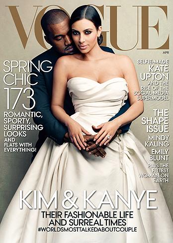 KIM & KANYE VOGUE_APRIL COVER