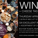 Wizo Wine & Cheese Tasting Apr 23 @ The Laurel