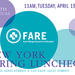 NEW YORK: 2016 FARE Luncheon Apr 19 @ Cipriani 42nd St