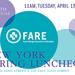 NEW YORK: 2016 FARE Luncheon Apr 19 @ Cipriani 42nd St
