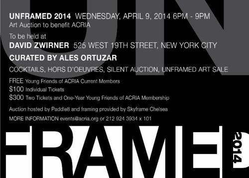 2014 ACRIA UNFRAMED Apr 9 @ David Zwirner Gallery