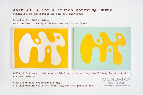 ART BASEL MIAMI: ACRIA Brunch SouthBeach Dec 6 @ Mondrian South Beach