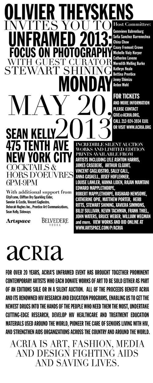 ACRIA Unframed 2013 May 20 @ Sean Kelly