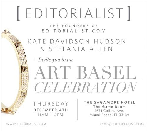 Art Basel 2014 Editorialist Party Dec 4th @ The Sagamore Hotel