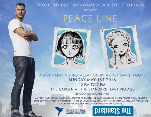 NEW YORK: David  Foote PEACE LINE May 1 @ The Cafe at The Standard