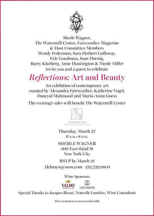 Reflections: Art & Beauty Mar 27 @ Sherle Wagner