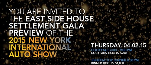 The East Side House Settlement Gala Preview  Apr 2 @ Jacob Javits Center