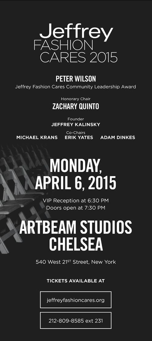 Jeffrey Fashion Cares 2015 Apr 6 Artbeam Studios Chelsea
