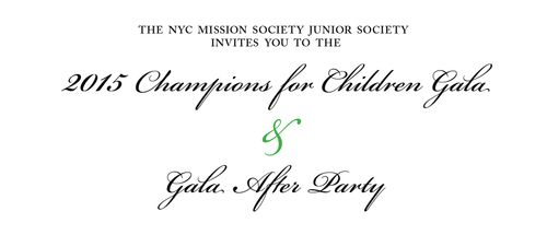 2015 Champions for Children Gala Apr 1 @ Mandarin Oriental