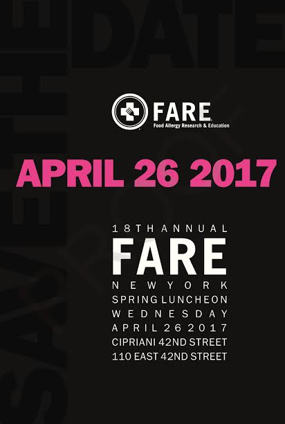 18th Annual FARE Luncheon Apr 26 @ Cipriani 42nd St