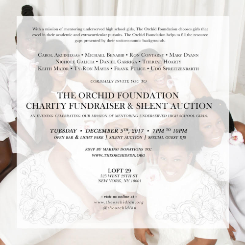 NEW YORK: The Orchid Foundation Charity Foundation Gala Tue Dec 5 @ Loft 29