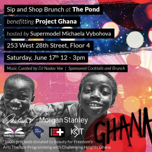 NEW YORK: Beauty for Freedom Sip & Shop Hosted by Model Michaela V Jun 16 @ The Pond