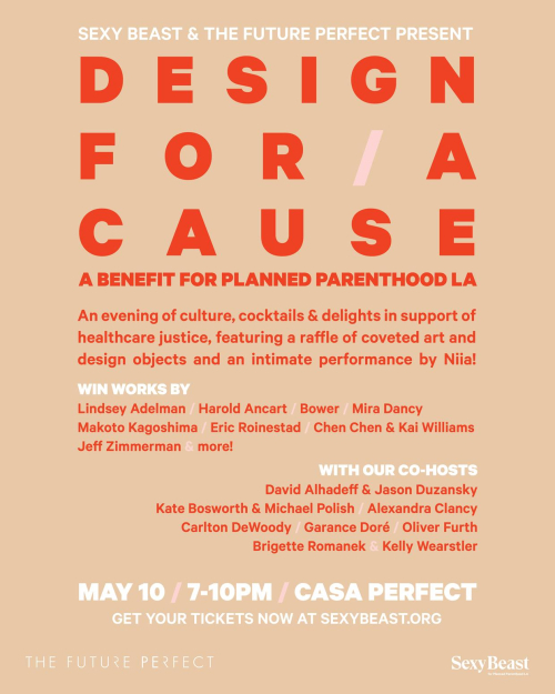 LOS ANGELES: Design for  a Cause May 10 @ Casa Perfect