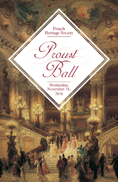 NEW YORK: French Heritage Society's Proust Ball Nov 16 @ The Plaza