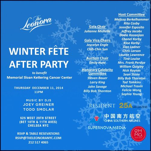 Winter fete After Party Dec 11 @ The Leonora