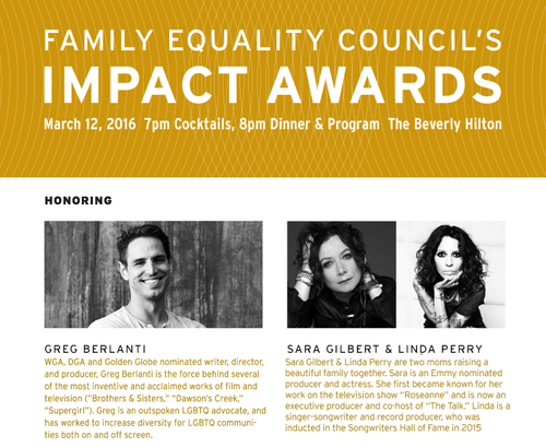 LOS ANGELES: Impact Equality Awards 2016 Mar 12 Beverly Hilton