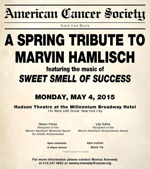 NYC Spring Gala Sweet Smell of Success May 4 @ Millennium Broadway Hotel