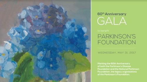 NEW YORK: Parkinson's Disease Foundation 60th Anniversary Gala May 31 @ NY Botanical Garden