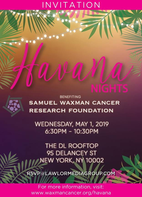 NEW YORK: Samuel Waxman Havana Nights Party May 1 @ DL Rooftop