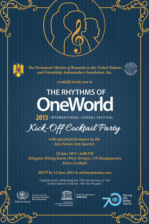 The Rythms of One World June 18 @  Delegates Dining Room, United Nations