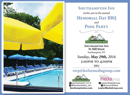 2016 Southampton Inn Memorial Day BBQ, May 29 @ Southampton Inn
