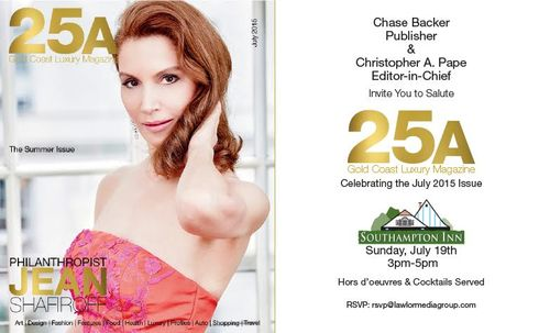 25A Gold Coast Luxury Magazine Jean Shafiroff Cover July 19 @Southampton Inn