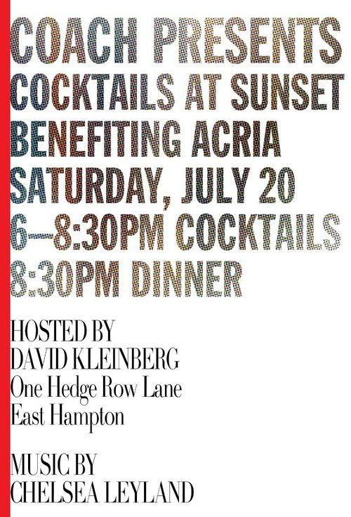ACRIA Cocktails at Sunset Jully 20 @ Private Residence