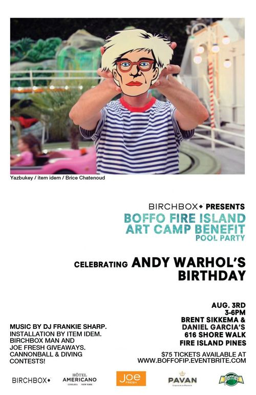 Boffo Fire Island Art Camp Aug 3 @ Private Residence